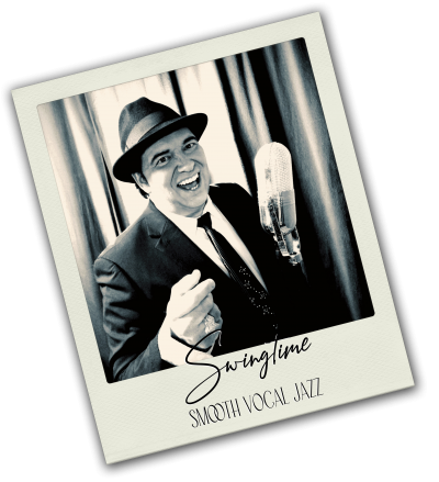 Swingtime - Smooth Vocal Jazz Sänger für stilvolle Ambiente-Hintergrundmusik & Lounge-Jazz Dinnermusik buchen. Professioneller, chilliger Gesang für Backgroundmusik und musikalische Untermalung. Swing für Hochzeit, Hochzeitsempfang, Hochzeitsdinner, Sektempfang, Firmenfeier, Gala und Messe-Events.